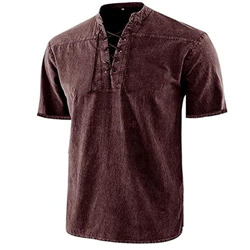 Mezclilla Shirt Hombre Moderno Corte Regular Collar Pie Hombre Casuales Camisa Verano Color Sólido Lazada...