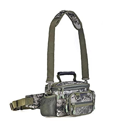 Carp Fishing Bag, singola spalla Mar attrezzatura da pesca Borse Borsone Camouflage all'aperto Carryall Bag Escursionismo Travel Pack