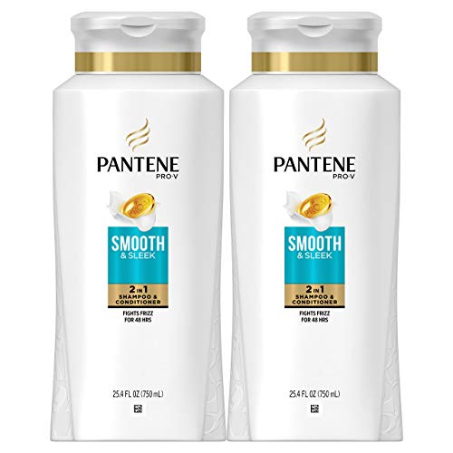 Pantene Shampoo and Conditioner 2 in 1, Pro-V Smooth and...