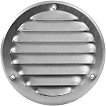 Ventilatierooster metaal insectenbescherming afvoerlucht toevoer rond bescherming tegen weersinvloeden lamellen Ø 100 mm r...