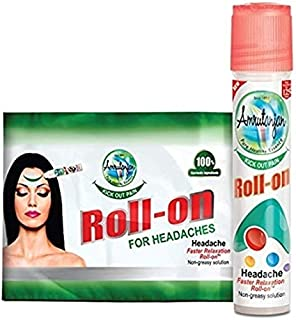 Amrutanjan Headache Faster Relaxation Roll on 10 ml pack of 2