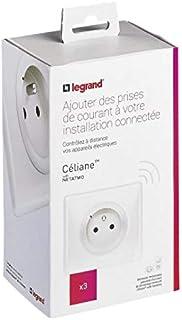 Legrand 600698 - Juego de enchufes de instalación conectada con Netatmo (3 tomas eléctricas conectadas), color blanco