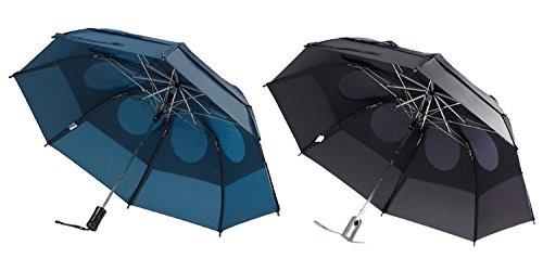 GustBuster Metro Wind Resistant Umbrellas 2 Pack Bundle Black/Navy