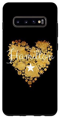 Galaxy S10+ I Love Hamilton Heart | Gift for Teenage Girl Women Case