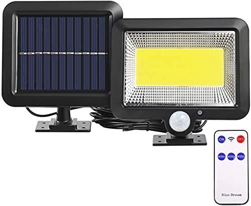 GDYJP Camping Lantern 3 Modos DIRIGIÓ Luz Solar al Aire Libre Impermeable Sensor de Movimiento de la luz de la Pared Solar con la lámpara del contorl para el Camino del jardín (Color : Black)