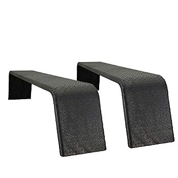RecPro Steel 14 Gauge Diamond Tread Plate Tandem Axle Trailer Fenders 10  x 72  x 13  | Made in America  2 Fenders