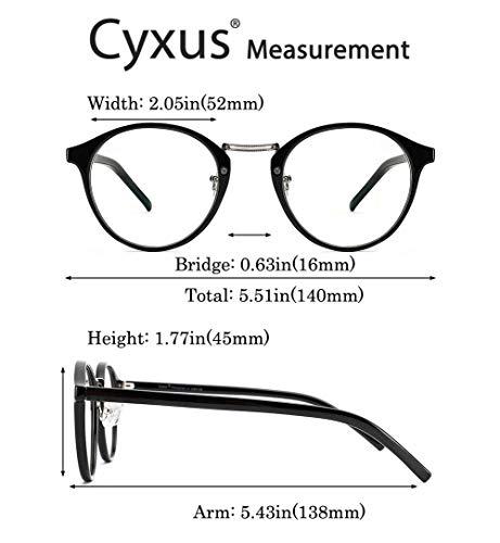 Cyxus retrò tondo telaio [trasparente lente] moda
