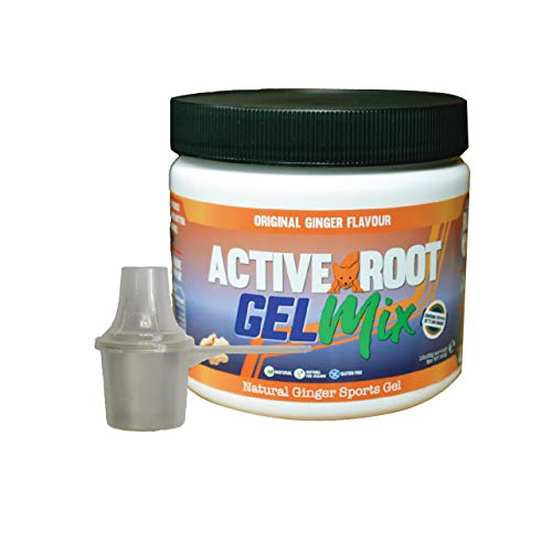 Active Root Energy Gel Mix, Original Ginger Flavour Natural Energy Gel, Vegan and Eco-Friendly (300, 12 Servings)