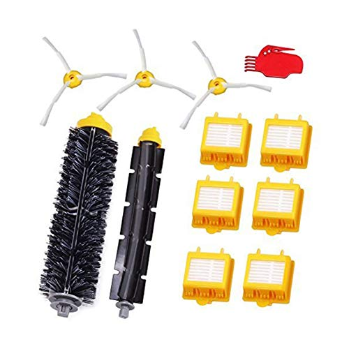 Piezas de repuesto Accesorios para Irobot Roomba 782 780 774 772 770 776 760 Juego de filtros Irobot 12 piezas (Color: Amarillo) Filtros Cepillos (Color: Amarillo)