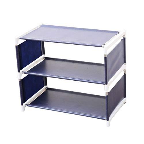 xingguang Zapatero de almacenamiento para zapatos, organizador de pasillo, puerta extraíble, estante de almacenamiento de zapatos, para muebles, color azul marino, tamaño: 41 x 21 x 36 cm