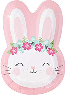 Bunny Party Shaped Paper Plates, 24 ct