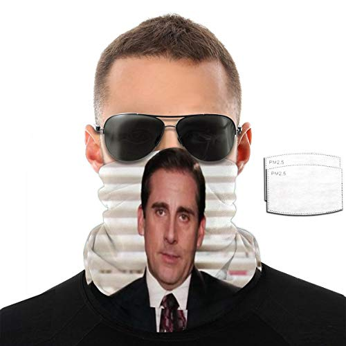 Pekivide Maske Schutzmaske Michael Scott ''I Am Dead Inside'' Sturmhaube Maske Mit Filtern