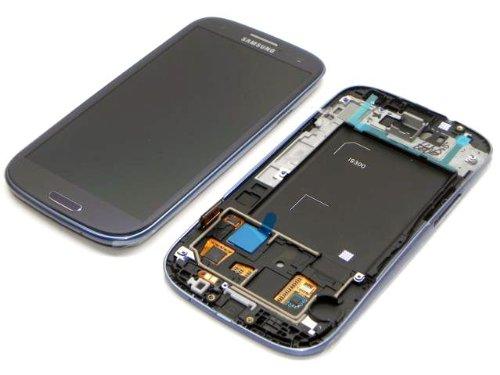 Samsung - Pantalla LCD con marco para Samsung Galaxy S3 GT-i9300, color azul