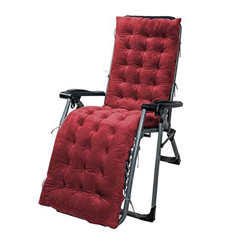 Cojín para tumbonas de patio, para interiores y exteriores, cojín para silla mecedora de sofá, reclinable, lavable, para oficina