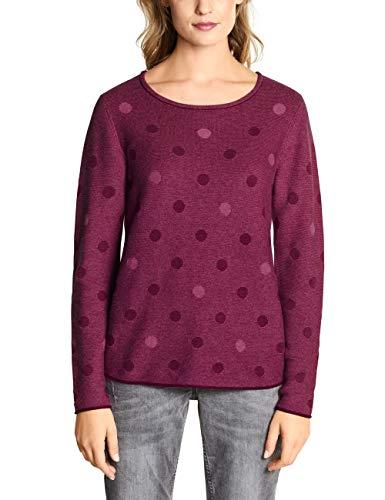 Cecil Damen 300966 Pullover, Mehrfarbig (Beetroot pink Melange 21801), Large (Herstellergröße:L)