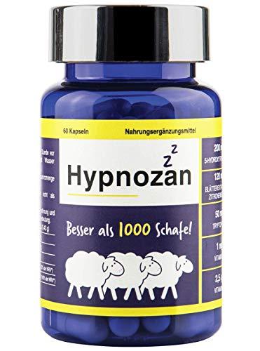 Hypnozan - 60 Tage gutes Schlafes, Aktivator von körpereigenem Melatonin, 5-HTP, Zitronenmelisse,...
