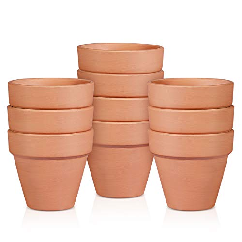 BESTOMZ 10 Pcs Mini Clay Pots 2'' Terracotta Pot Clay Ceramic Pottery Planter Cactus Flower Pots Succulent Nursery Pots- Great for Plants,Crafts,Wedding Favor