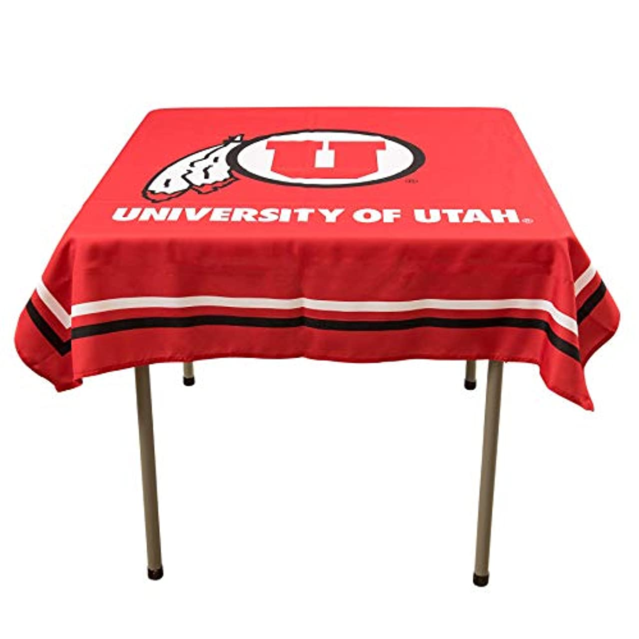 College Flags and Banners Co. Utah Utes Logo Tablecloth or Table Overlay