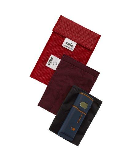FRIO Kühltasche für Insulin, 9 x 11cm, schwarz - KEIN Eispack oder Batterien nötig