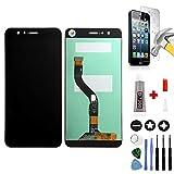 Mobilevie VITRE Tactile + ECRAN LCD Original Pret-A-Monter pour Huawei P10 Lite Noir + Outils