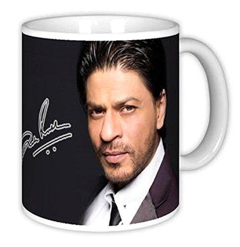 Shahrukh Khan Kaffeebecher, Tasse, Kaffeepott, Coffee Mug (H=9.5cm, 200ml, Keramik) (FanArt-701)