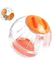 Sahgsa COTTILE Palla per criceti per Piccoli Animali, Mini Palla per Esercizi per criceti in plastica Trasparente da 12 cm Colori Diversi