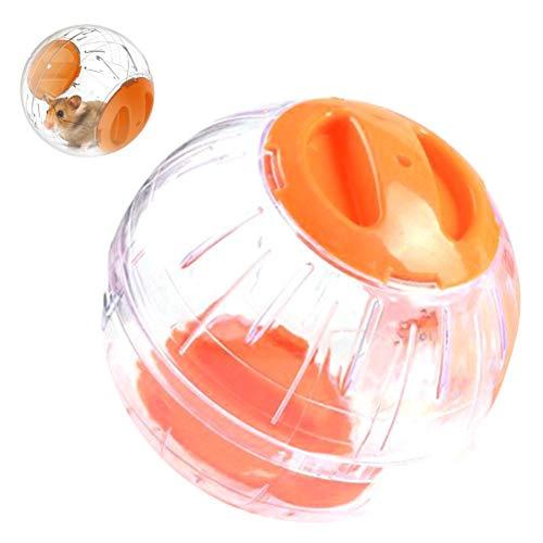 Sahgsa Palla per criceti per Piccoli Animali, Mini Palla per Esercizi per criceti in plastica Trasparente da 12 cm Colori Diversi