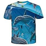 Animal Marine Dolphin T-Shirt Impresión 3D Patrón de impresión Ropa para niños Niñas Tops Ct-932 13t