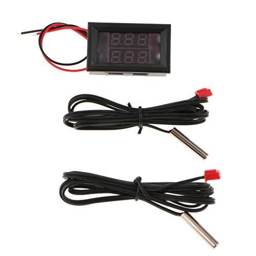 SM SunniMix Termometro Digitale Misurazione Temperatura Interno e Esterno Auto Precisione - Rosso-Rosso