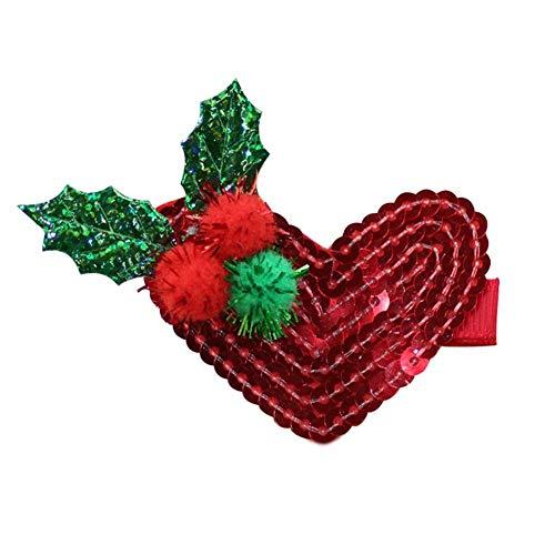 Brownrolly De leuke kerstversiering haarband vliegen-kleine haarspelden accessoire van de baby voor kinderen vanaf 1 jaar oud