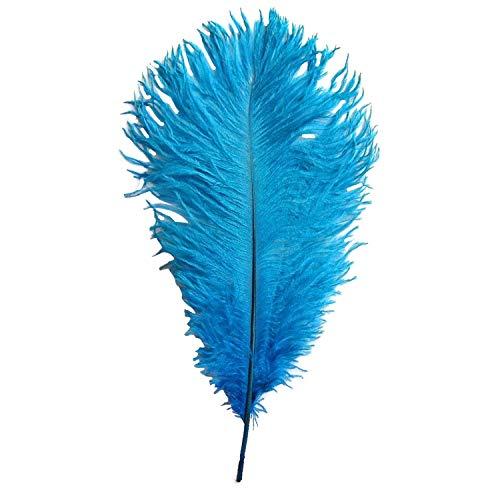 Trimming Shop Turkoois blauwe echte struisvogel veren voor het verfraaien van kostuums, huis, DIY Headdresses, verfraaiing ambachten, 14