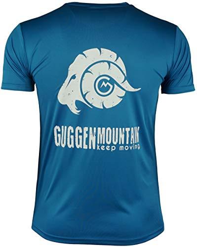 GUGGEN Mountain Herren Funktionsshirt Funktionswäsche Funktions T-Shirt Sport Outdoor Aktivitäten Schnelltrocknend Kurzarm Atmungsaktive Blau L