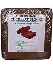 FARMERS CASTLE Organic Cocopeat Block - (5 Kg)