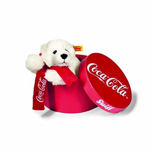 Steiff 355356 - Coca-Cola Eisbaer 22 liegend, Weiss