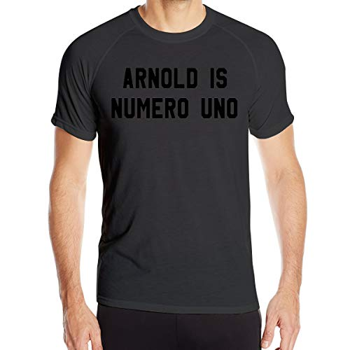 Jianyao Men's Sunshine Short Sleeve Arnold Is Numero Uno T-Shirts Outdoor Sports Quick-Drying Clothes