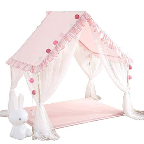 HAHFKJ Tienda Infantil Play House Girl Boy Indoor Princess Room Bed Artifact Home Hogar Casa Tienda Cama (Color : A)