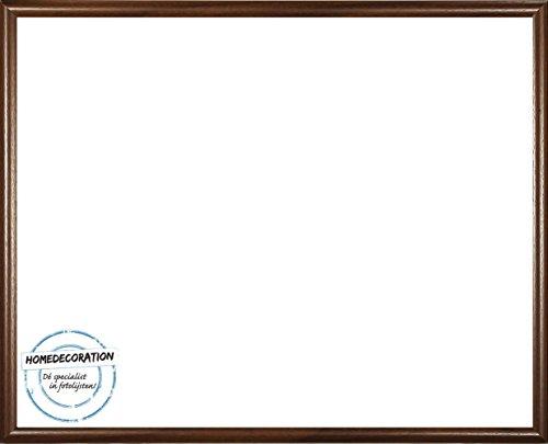 Rotterdam plastic fotolijsten 50x60 cm 60x50 cm kleurkeuze: hier bruin met acrylglas antireflex