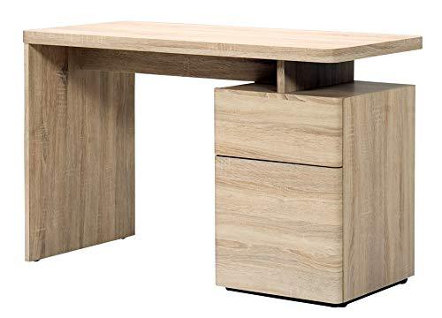 Amazon Brand -Movian Ohrid 1-Door 1-Drawer Desk, 120 x 55 x 76cm, Light Brown Oak-Effect