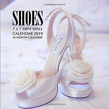 Year Calendar 2019-16 Shoes 7 x 7 Mini Wall Calendar 2019: 16 Month Calendar: Mason