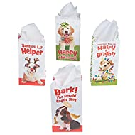 HOLIDAY PUPPY TREAT BAGS - Party Supplies - 12 Pieces