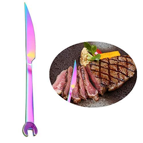 Csheng Gabel Löffel Buntes Besteck Kreatives Geschirr Schraubenschlüssel Besteck Partybesteck multifunktionales Besteck Besteck für Service Color Steak Knife