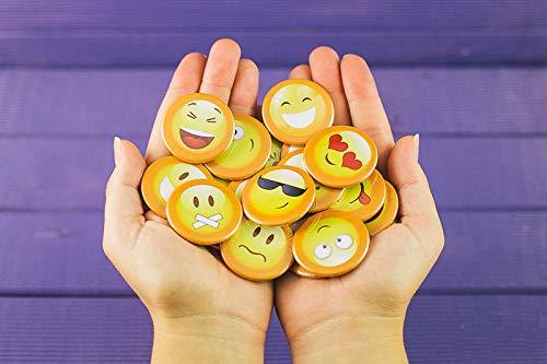 Pack de 15 Chapas de Emoticonos trasera de alfiler para Primera Comunión...
