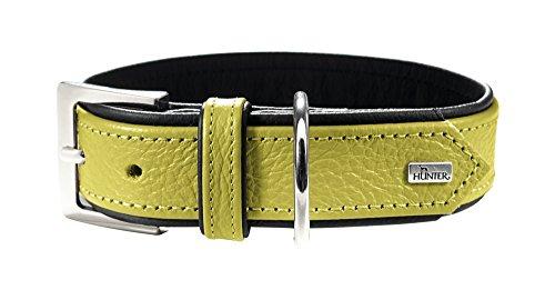 HUNTER CAPRI Hundehalsband, Leder, Nappa, weich, 50 (S-M), lindgrün