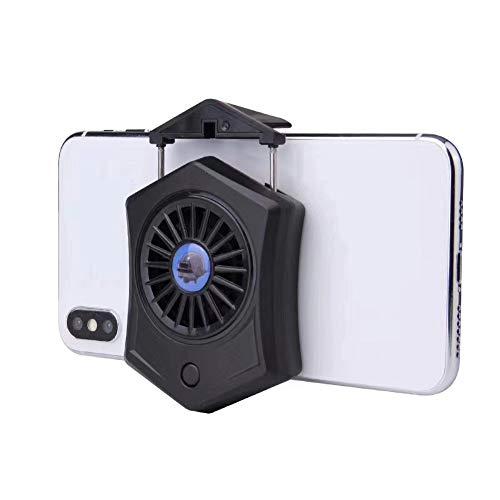pengyu- Lüfter P9 Universal tragbar wiederaufladbar Handy Kühler Spiel Lüfter Radiator Externe Telefon Zubehör, ABS, Schwarz , Einheitsgröße