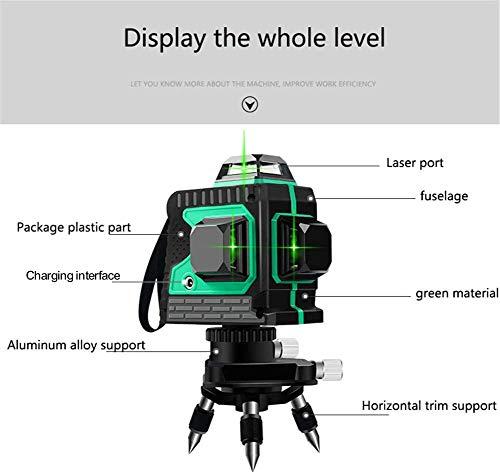 Laser 25M, Kreuzlinienlaser 3 x 360 grüner Laserpegel selbstnivellierend, grüner Strahl 3D 12 Linien, IP 54 Linienlaser Vertikale und Horizontale Linie (inklusive 3pcs Batterie) - 2