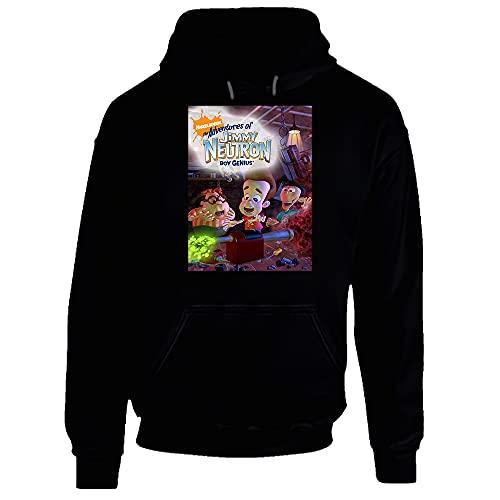 The Adventures of Jimmy Neutron Boy Genius Sweat à capuche pour enfant 90 Chocolat foncé - Noir - XX-Large