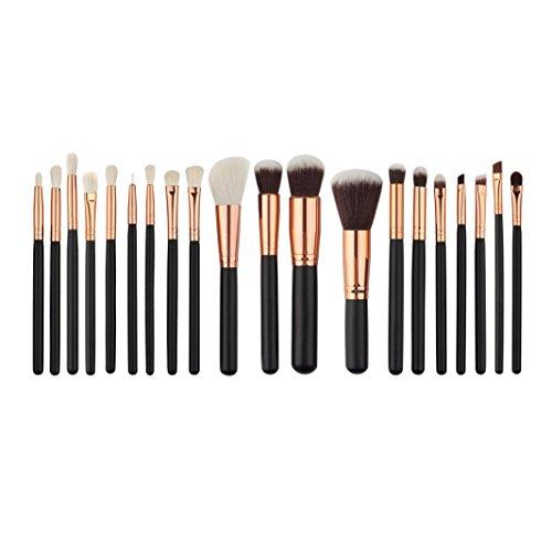 Mingfa.y Make-up-Pinsel-Set, für Lidschatten, Eyeliner, Lippenpinsel, Puder, Foundation, 20-teilig