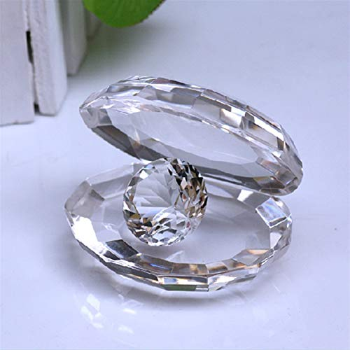 Oneriverspring40 Beauty Crystal Bunte Muschel-Auster mit klarem Diamant-Dekoration Geburtstagsgeschenk (Color : Clear)