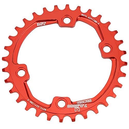 Eddwiin Bike Positive Negative Tooth - Plato único de Bicicleta, Accesorio de Ciclismo de un Solo Disco para Bicicleta M8000, Material de aleación de Aluminio, 32 34 36T(34T)
