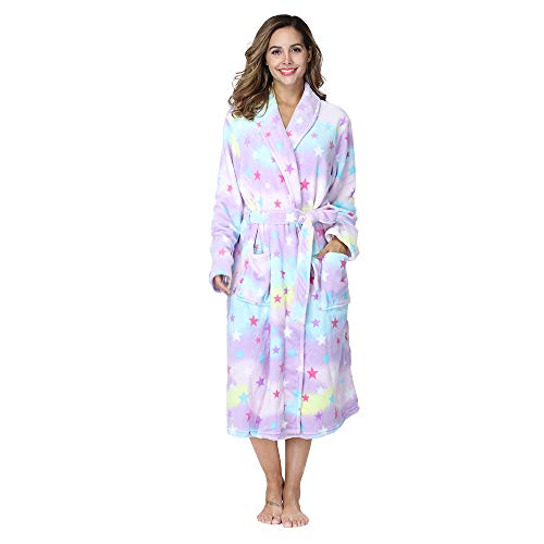 Image of Fleece Star Bath Robe for Women - See More Colors & Styles